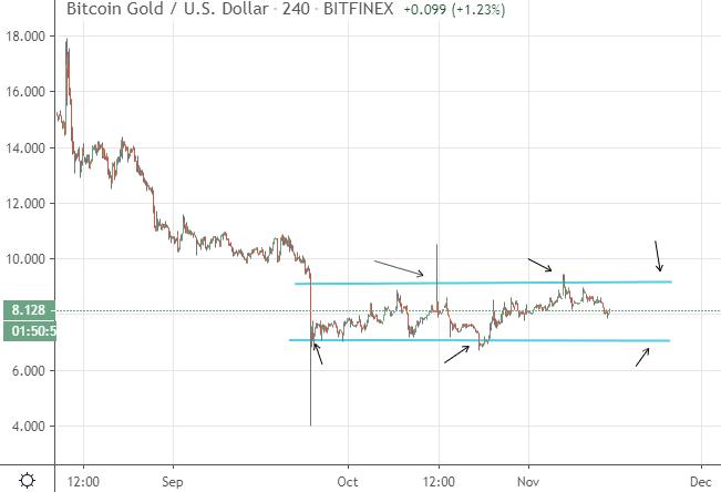Revisión de Bitcoin Gold Fluctuaciones Bitcoin Gold